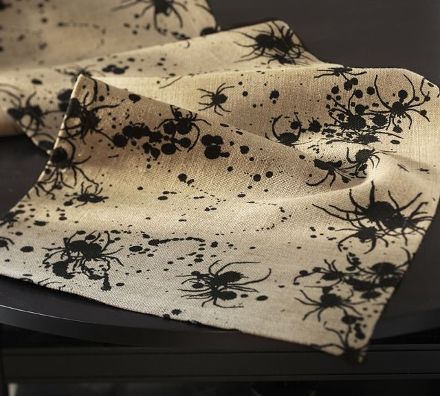 Spider Inkblot Table Runner eclectic-holiday-decorations