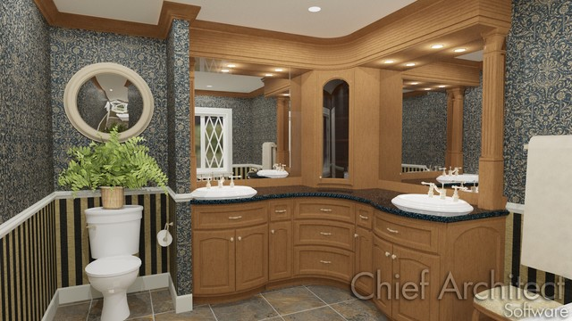 Bow Cabinet Bathroom - Traditional - other metro - by ...