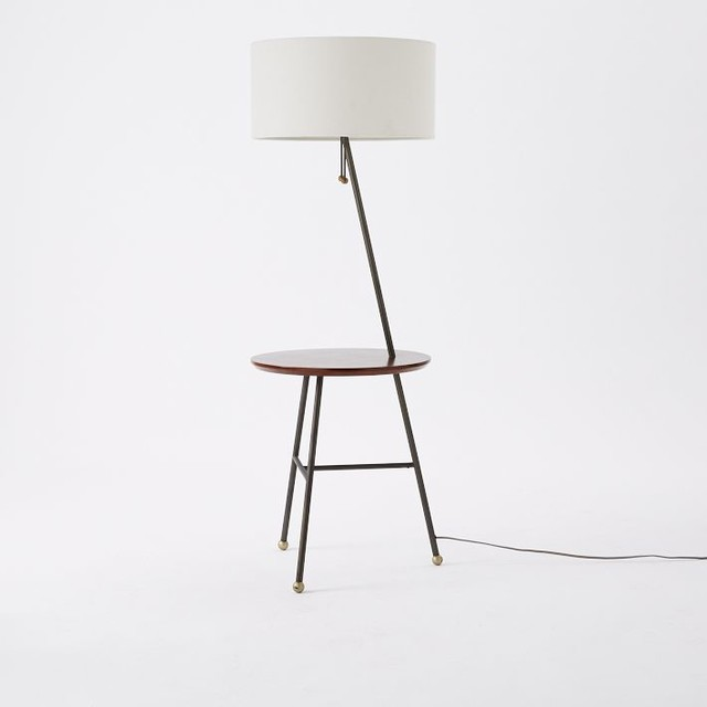 duo side table floor lamp contemporary side tables and end tables. Black Bedroom Furniture Sets. Home Design Ideas