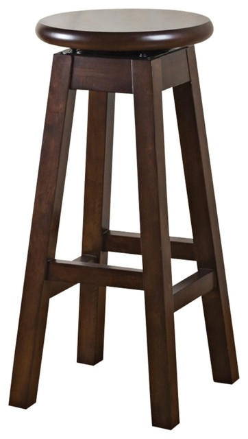 "Contemporary American Heritage Taylor Chestnut 30"" High Bar Stool contemporary-bar-stools-and-counter-stools"