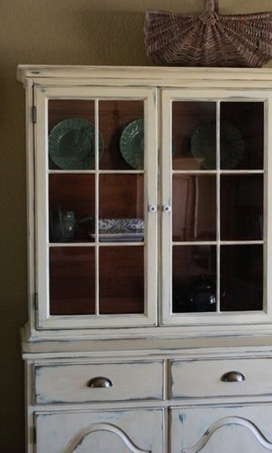 Farmhouse Style China Cabinet China Cabinets And Hutches