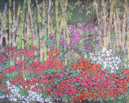 Bamboo and Impatiens -