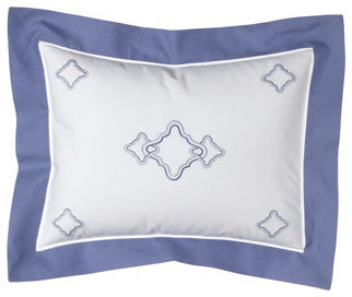 "SFERRA Sonno Embroidered Boudoir Sham, 12"" x 16"" traditional-pillowcases-and-shams"