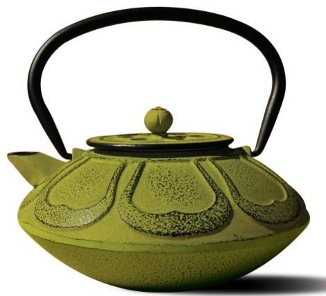 """Moss Green Cast Iron """"Meiji"""" Teapot, 28 Oz. asian-kettles"""
