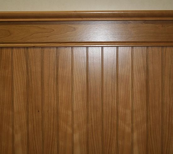 Stained Wainscoting Bathroom
