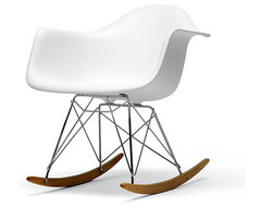 Vinnie White Cradle Chair contemporary rocking chairs
