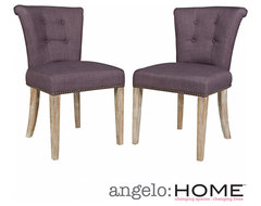 angelo:HOME Lexi Purple Grape Twill Dining Chair (Set of 2) | Overstock.com Shop
