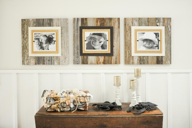 reclaimed wood burlap frames rustic picture frames