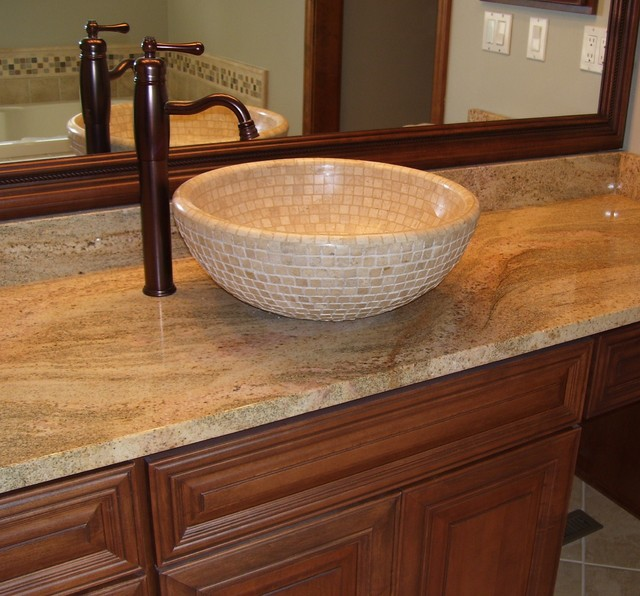 Mosaic Tile Vessel Bowl - Modern - Bathroom Sinks ...