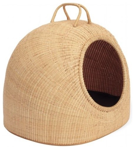 Woven Pet Basket contemporary pet accessories