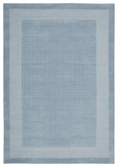"Nourison Westport Solid Border Blue 2'6"" x 4' Rug by RugLots modern-rugs"