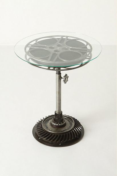Film Reel End Table eclectic side tables and accent tables
