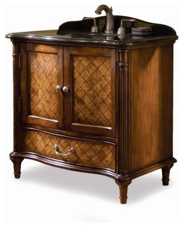 Single Sink Bathroom Vanity on Single Bathroom Vanity Set   Traditional   Bathroom Vanities And Sink