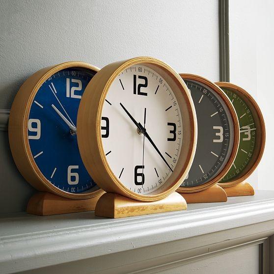 Wood Mantle Clocks modern-clocks