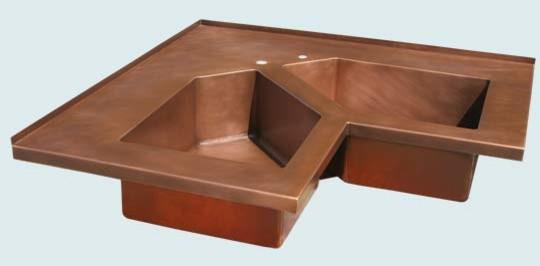 Farmhouse Sink Corner : Copper Sink Handcrafted Metal - Farmhouse - Kitchen Sinks - austin ...