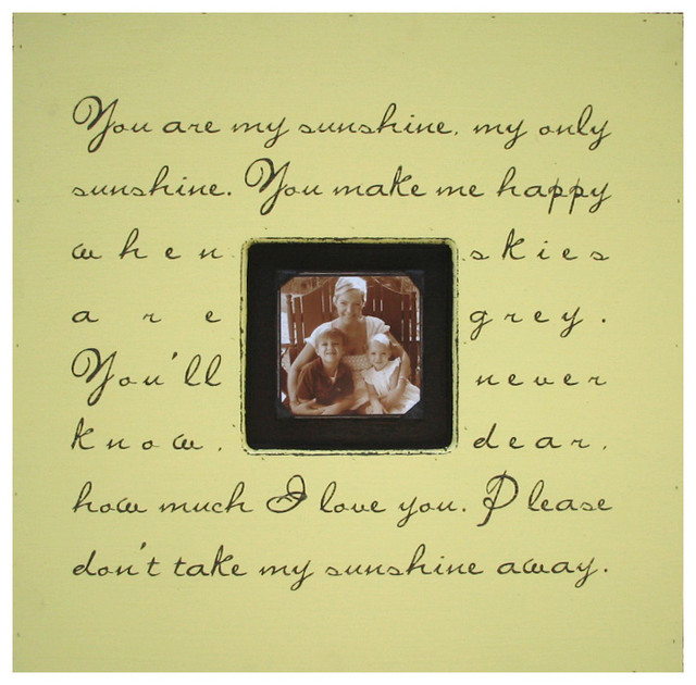 Painted Wood Rustic Photo box - You Are My Sunshine - Harvest transitional-prints-and-posters