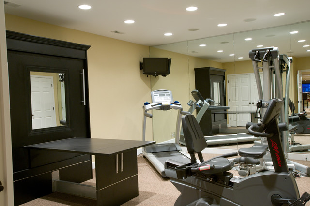 amazing basements showroom traditional home gym