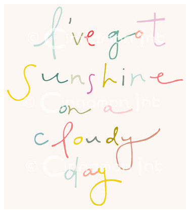 I've Got Sunshine Print by Cinnamon Ink contemporary-nursery-decor