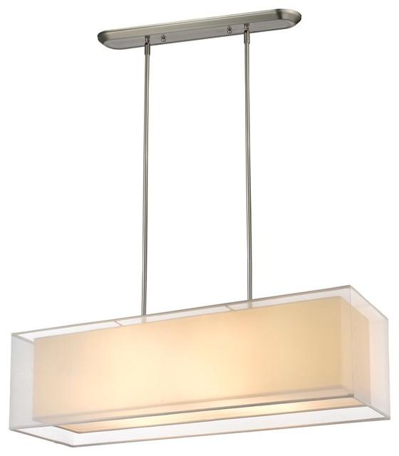 Houzz Kitchen Lighting: Z-Lite Sedona 4 Light Island/Billiard Light, Brushed