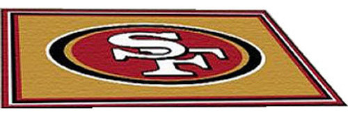 Nfl san francisco 49ers area rugs large 4 x 6 football for 49ers bathroom decor