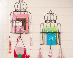 Birdcage Magazine Rack eclectic-wall-shelves