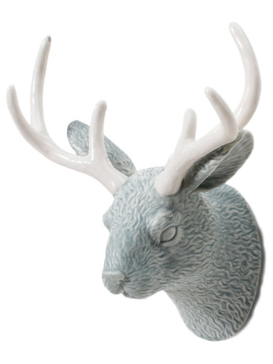 imm Living Jackalope Glacier Blue Wall Hook