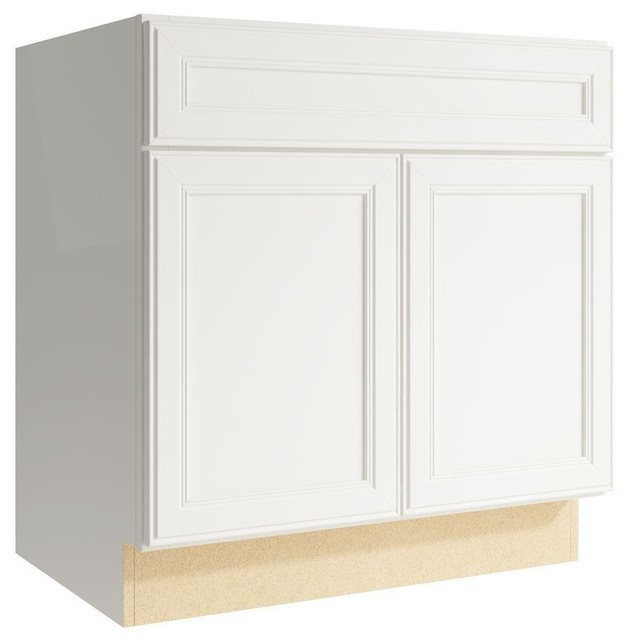 Cardell Cabinets Boden 30 in. W x 31 in. H Vanity Cabinet Only in Lace - Contemporary - Medicine ...