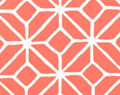 Trellis Print in Watermelon by Trina Turk contemporary-outdoor-fabric