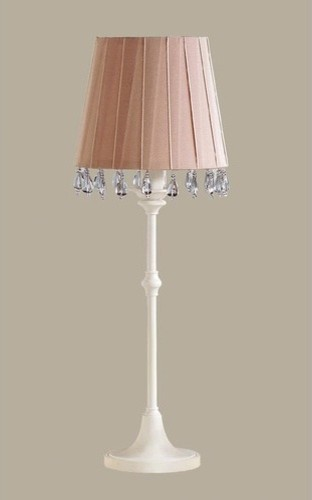 Harriet Table Lamp with Aida Shade in Antique White modern-lighting