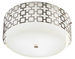 Jonathan Adler Parker Flush Mount Ceiling Light  bathroom lighting and vanity lighting
