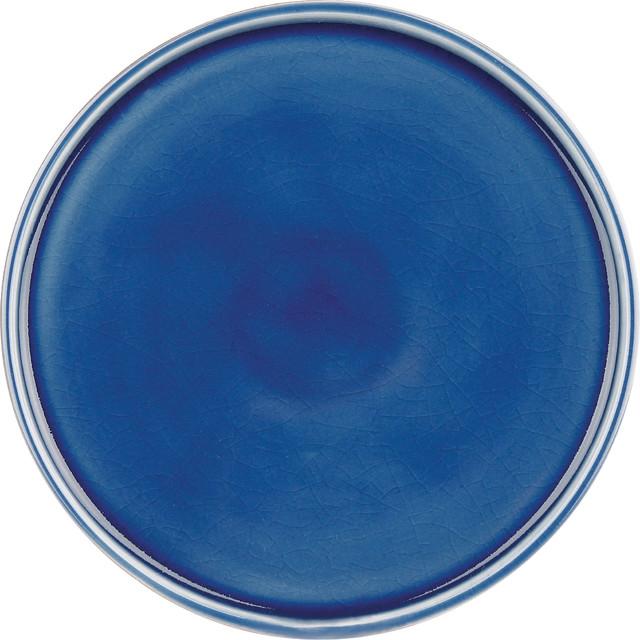 Pure Nature Blue Set of 4 Side Plates/Lids contemporary-plates