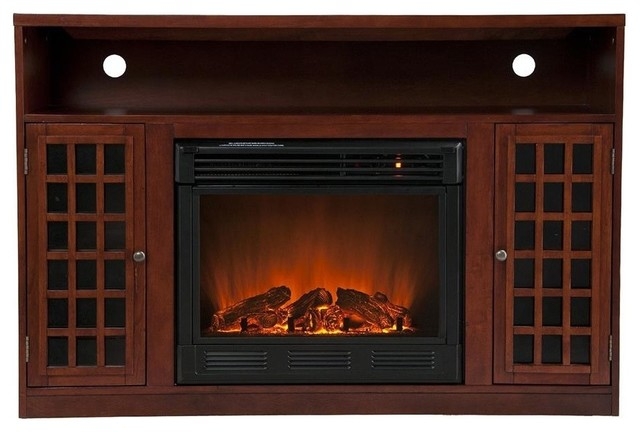 Narita 32.5 in. Media Electric Fireplace contemporary-indoor-fireplaces
