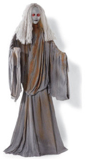 Life-size Stone Lady - Halloween Decorations and Decor traditional-holiday-decorations