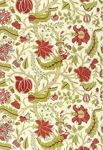 Jaipur Tree Fabric, Eggshell contemporary-fabric