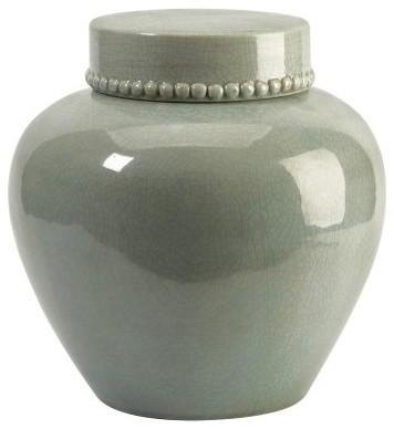 IMAX 13H in. CKI Pratt Vase with Lid modern-vases