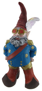 Elfin John Fabulously Dressed Entertainer Garden Gnome contemporary-garden-sculptures