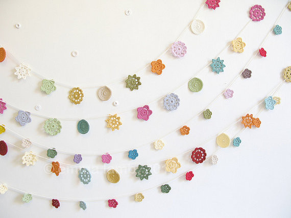 Forever Flower Garland by emma lamb contemporary accessories and decor