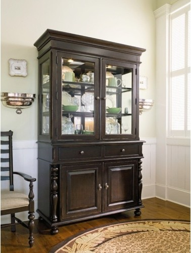 Sweet Tea China Cabinet in Tobacco modern-china-cabinets-and-hutches