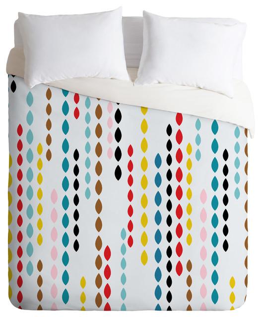 Khristian A Howell Nolita Drops Queen Duvet Cover contemporary-duvet-covers-and-duvet-sets