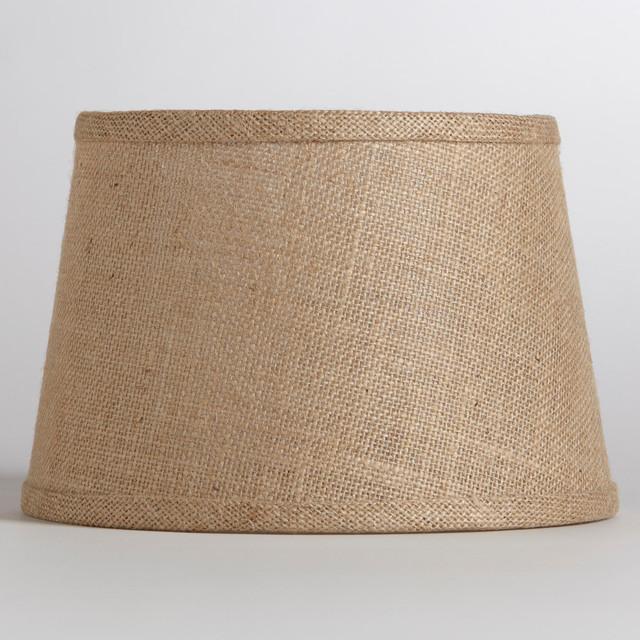 natural burlap accent lamp shade rustic table lamps. Black Bedroom Furniture Sets. Home Design Ideas