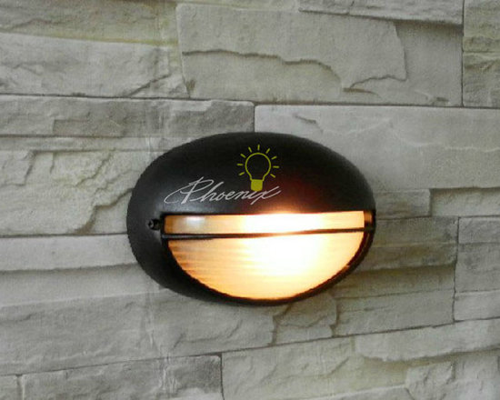 Water Proof Outdoor wall sconce in matte aluminium finish - Size:L8.26'' X H3.54'' X W5.51''