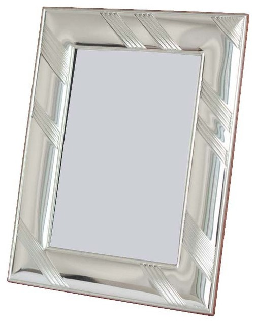 """3.5""""x5"""" Kenneth Sterling Silver Picture Frame contemporary-frames"""