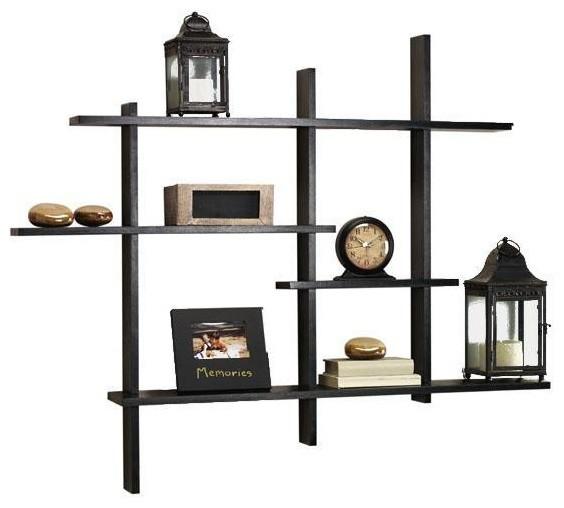 Contemporary Wall Shelves Decorative: Standard Contemporary Display Shelf