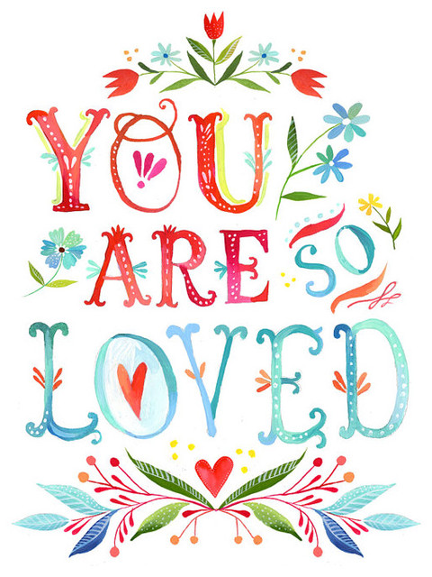You Are So Loved Print by The Wheatfield contemporary-prints-and-posters