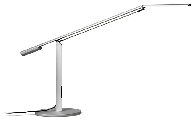 Koncept Gen 3 Equo Daylight LED Modern Desk Lamp Silver contemporary table lamps