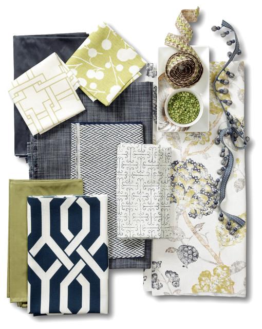 Indigo and Citron Fabric Collection