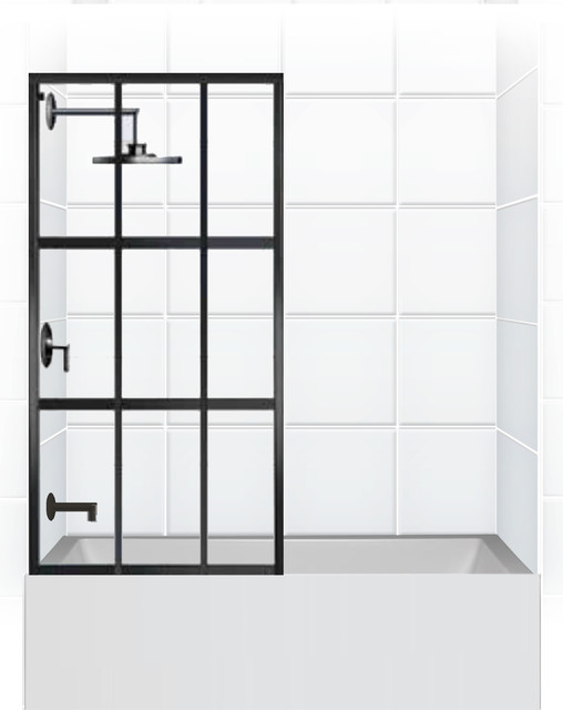 Coastal Gridscape Series Multi Pane Quot Windowpane Quot Shower