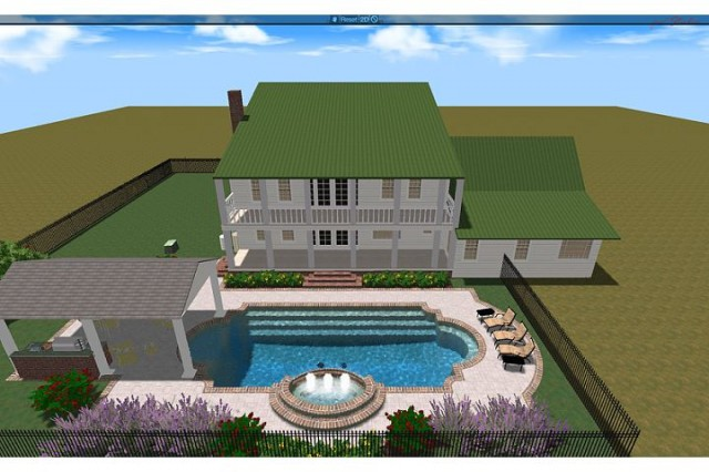 Moore Residence traditional-rendering