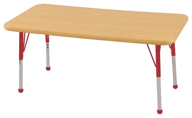 24 X 48 Rectangular Adjustable Activity Table Mpl Yllw W