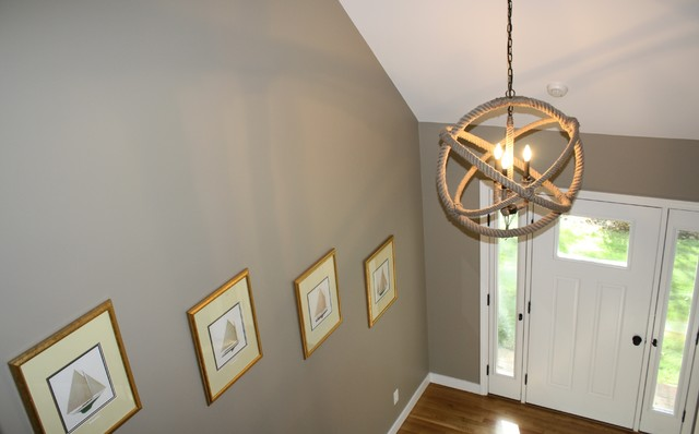 Cape Cod Whole House Remodel & Addition beach-style-chandeliers